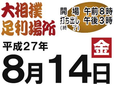 大相撲足利場所 平成27年(2015) 開催案内